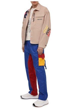 Мужские брюки-карго 1 moncler jw anderson MONCLER GENIUS разноцветного цвета, арт. G1-09E-2A000-02-M1181 | Фото 2 (Материал внешний: Синтетический материал; Длина (брюки, джинсы): Стандартные; Материал подклада: Синтетический материал; Случай: Повседневный; Силуэт М (брюки): Карго; Стили: Спорт-шик)