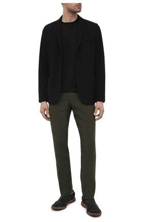 Мужские кожаные оксфорды PREMIATA черного цвета, арт. 31807/N0NE | Фото 2 (Материал внутренний: Натуральная кожа; Стили: Классический)