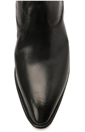 Мужские кожаные казаки LEMARGO черного цвета, арт. EE01A/SKIP | Фото 5