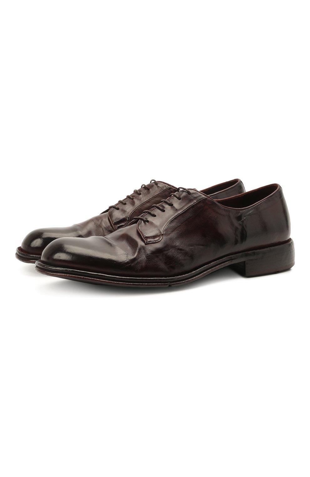 Мужские кожаные дерби LEMARGO темно-коричневого цвета, арт. DF07A/SKIP | Фото 1