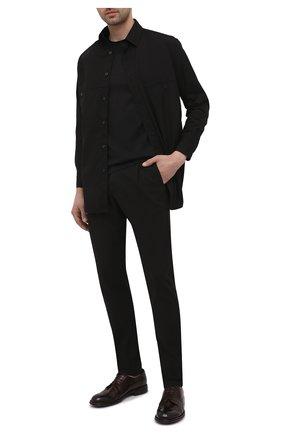 Мужские кожаные дерби LEMARGO темно-коричневого цвета, арт. DF07A/SKIP | Фото 2