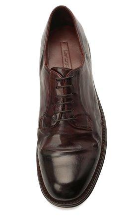 Мужские кожаные дерби LEMARGO темно-коричневого цвета, арт. DF07A/SKIP | Фото 5