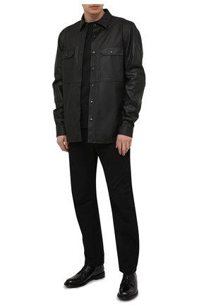 Мужские кожаные дерби LEMARGO черного цвета, арт. DF07A/SKIP | Фото 2