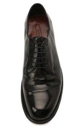 Мужские кожаные дерби LEMARGO черного цвета, арт. DF07A/SKIP   Фото 5
