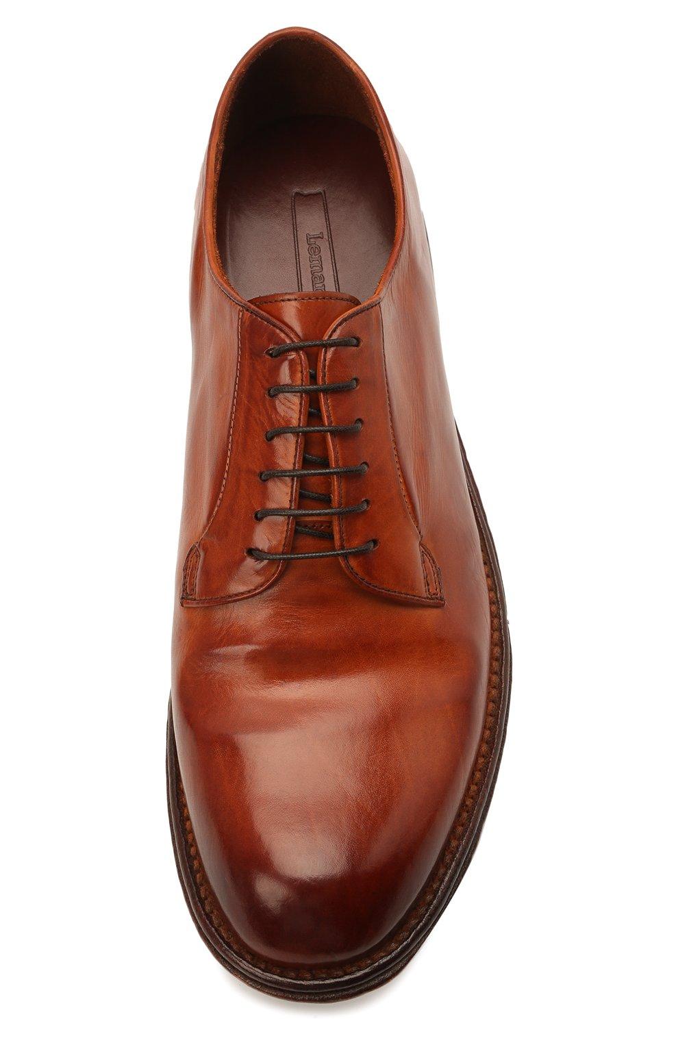 Мужские кожаные дерби LEMARGO коричневого цвета, арт. DF07A/MAJESTIC | Фото 5
