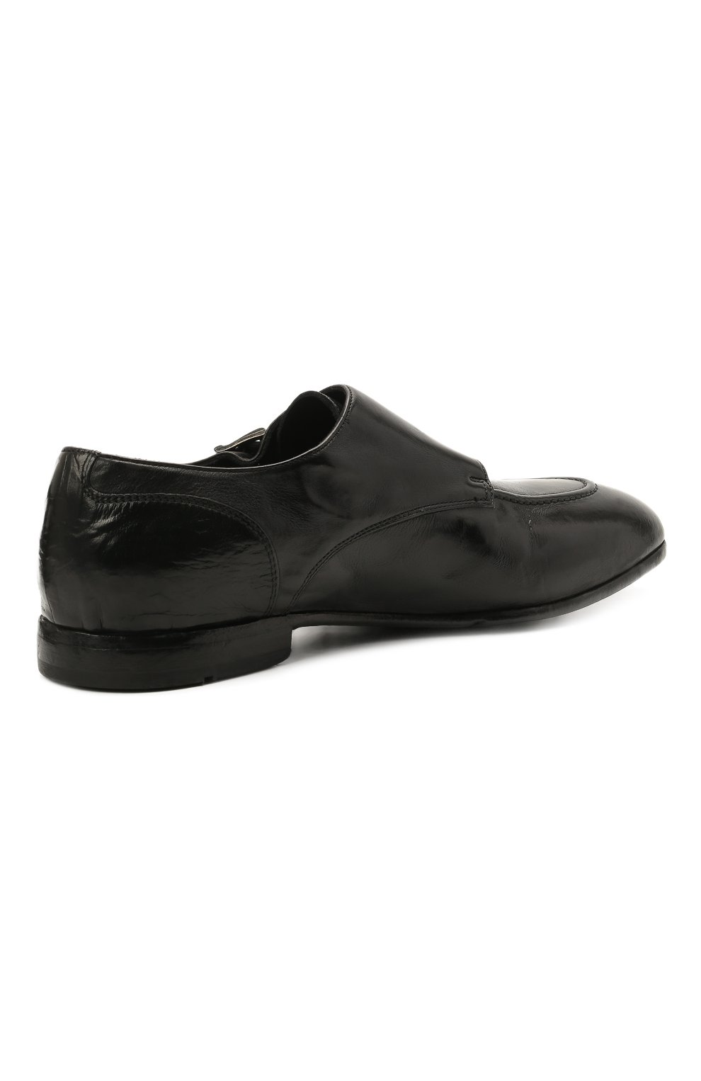 Мужские кожаные монки LEMARGO черного цвета, арт. DB10A/RANCH   Фото 4