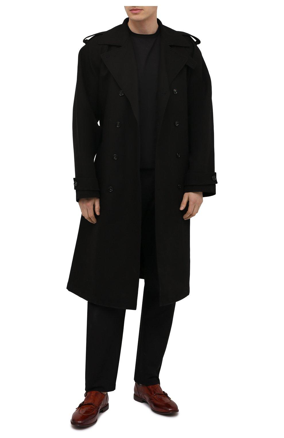 Мужские кожаные монки LEMARGO коричневого цвета, арт. DB10A/RANCH   Фото 2