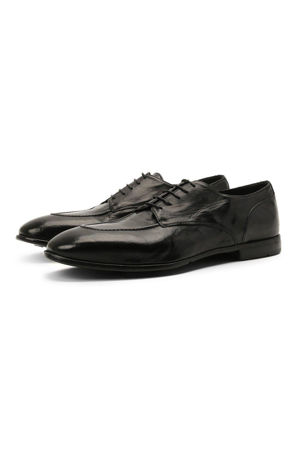 Мужские кожаные дерби LEMARGO черного цвета, арт. DB09A/RANCH | Фото 1