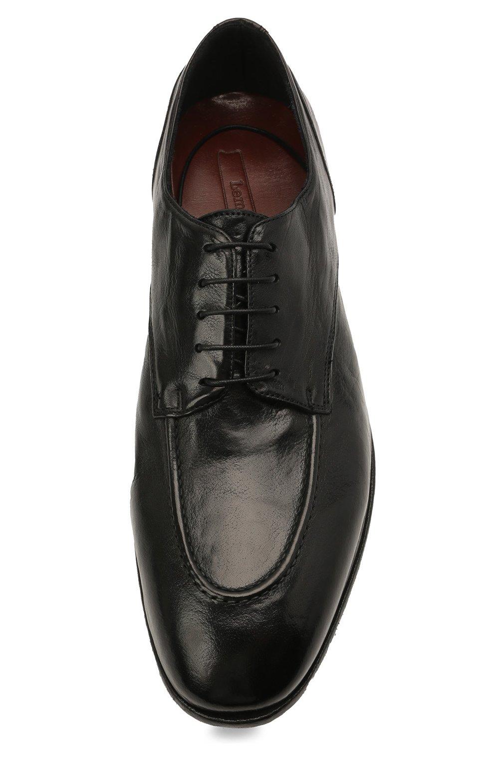 Мужские кожаные дерби LEMARGO черного цвета, арт. DB09A/RANCH | Фото 5