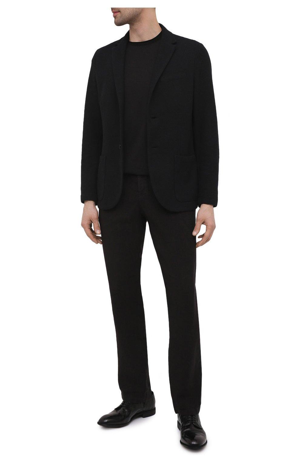 Мужские кожаные дерби LEMARGO черного цвета, арт. CZ11A/RANCH   Фото 2
