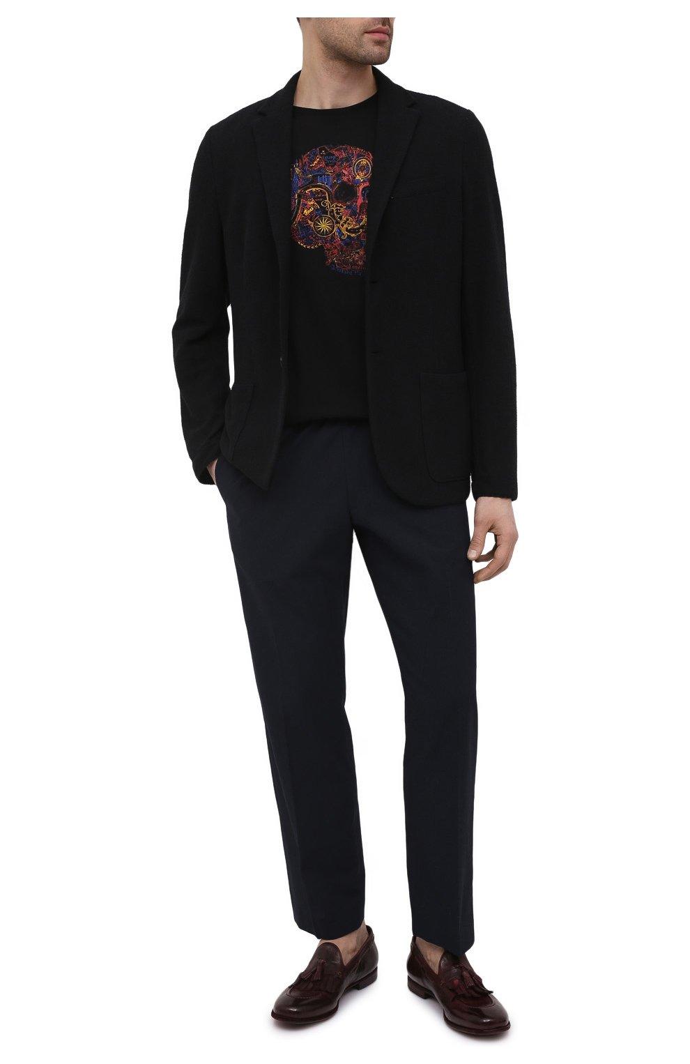 Мужские кожаные лоферы LEMARGO бордового цвета, арт. AF16A/CERV0 | Фото 2