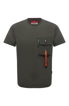 Мужская хлопковая футболка PARAJUMPERS хаки цвета, арт. TS28/M0JAVE   Фото 1