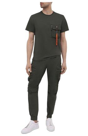 Мужская хлопковая футболка PARAJUMPERS хаки цвета, арт. TS28/M0JAVE   Фото 2