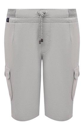 Мужские хлопковые шорты CAPOBIANCO серого цвета, арт. 10M739.FE01. | Фото 1
