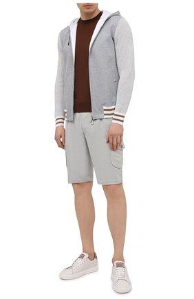 Мужские хлопковые шорты CAPOBIANCO серого цвета, арт. 10M739.FE01. | Фото 2