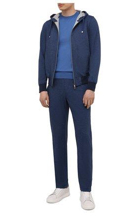 Мужской хлопковая толстовка CAPOBIANCO синего цвета, арт. 10M402.L000. | Фото 2