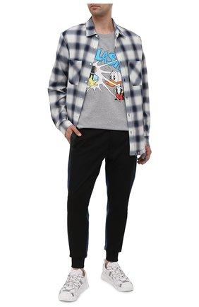 Мужская хлопковая футболка disney x gucci GUCCI серого цвета, арт. 548334/XJDAE | Фото 2 (Длина (для топов): Стандартные; Материал внешний: Хлопок; Рукава: Короткие; Принт: С принтом; Стили: Гранж)