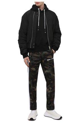 Мужские брюки PALM ANGELS хаки цвета, арт. PMCA007S21FAB0015556 | Фото 2