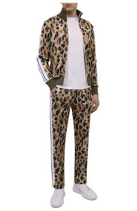 Мужские брюки PALM ANGELS хаки цвета, арт. PMCA007S21FAB0025601 | Фото 2