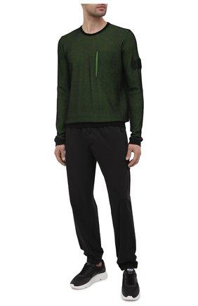 Мужской хлопковый джемпер STONE ISLAND SHADOW PROJECT зеленого цвета, арт. 7419505A3 | Фото 2