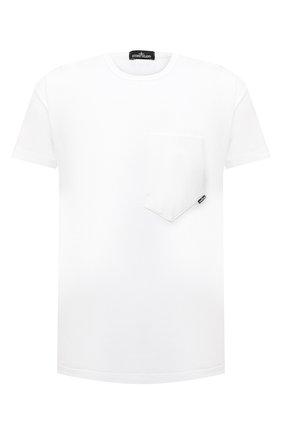 Мужская хлопковая футболка STONE ISLAND SHADOW PROJECT белого цвета, арт. 741920610   Фото 1