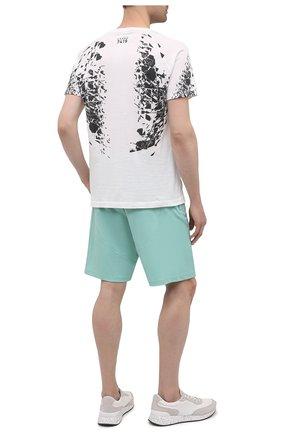 Мужская хлопковая футболка STONE ISLAND SHADOW PROJECT белого цвета, арт. 741920610   Фото 2