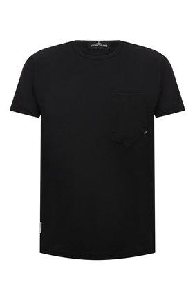 Мужская хлопковая футболка STONE ISLAND SHADOW PROJECT черного цвета, арт. 741920610   Фото 1