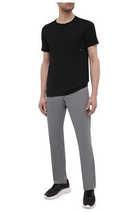 Мужская хлопковая футболка STONE ISLAND SHADOW PROJECT черного цвета, арт. 741920610   Фото 2
