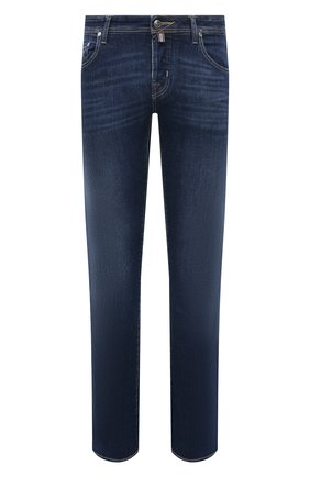 Мужские джинсы JACOB COHEN темно-синего цвета, арт. J620 LIMITED C0MF 08792-W1/55 | Фото 1
