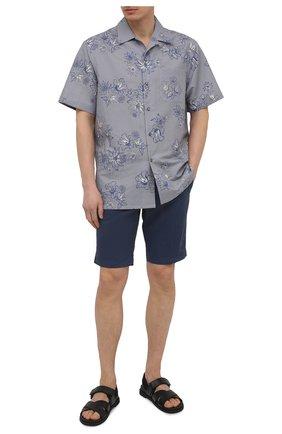 Мужские хлопковые шорты PT TORINO синего цвета, арт. 211-CB BTKCZ00CL1/NU35 | Фото 2