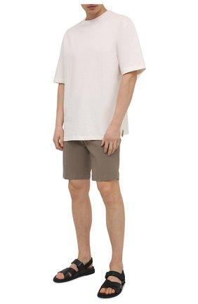 Мужские хлопковые шорты PT TORINO бежевого цвета, арт. 211-CB BTKCZ00CL1/NU35 | Фото 2