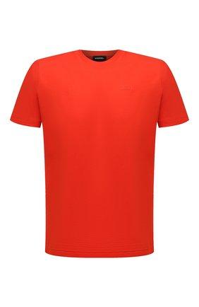 Мужская хлопковая футболка DIESEL красного цвета, арт. A00400/0HAYU | Фото 1