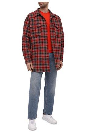 Мужская хлопковая футболка DIESEL красного цвета, арт. A00400/0HAYU | Фото 2