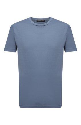 Мужская хлопковая футболка DANIELE FIESOLI синего цвета, арт. DF 7150   Фото 1