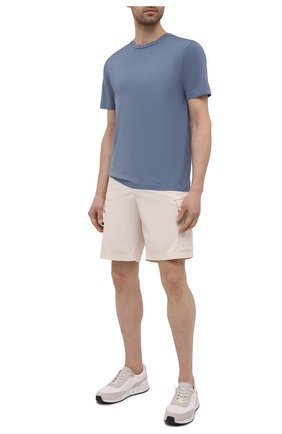 Мужская хлопковая футболка DANIELE FIESOLI синего цвета, арт. DF 7150   Фото 2