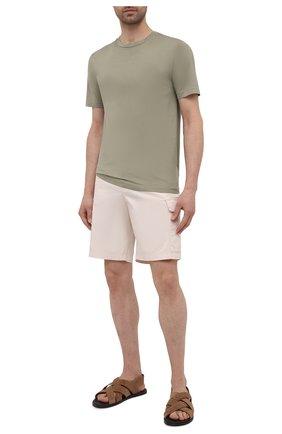 Мужская хлопковая футболка DANIELE FIESOLI хаки цвета, арт. DF 7150   Фото 2