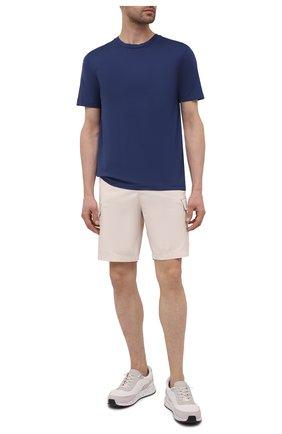 Мужская хлопковая футболка DANIELE FIESOLI темно-синего цвета, арт. DF 7150 | Фото 2 (Рукава: Короткие; Длина (для топов): Стандартные; Материал внешний: Хлопок; Принт: Без принта; Стили: Кэжуэл)