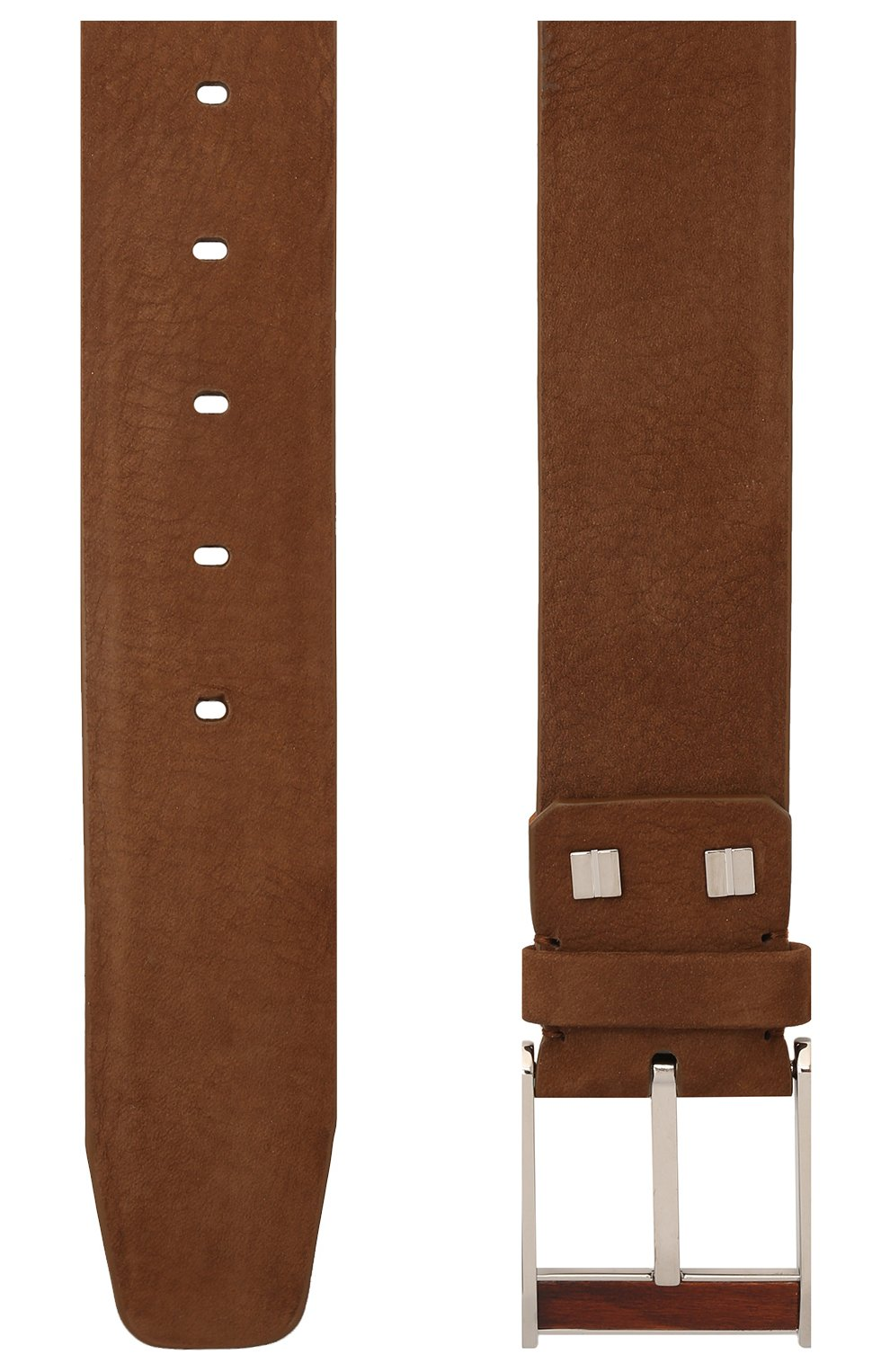Мужской кожаный ремень ZILLI коричневого цвета, арт. MJL-CLAQE-01982/0057 | Фото 2 (Случай: Повседневный; Материал: Кожа)