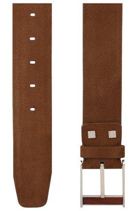 Мужской кожаный ремень ZILLI коричневого цвета, арт. MJL-CLAQE-01982/0057 | Фото 2