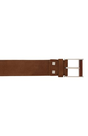 Мужской кожаный ремень ZILLI коричневого цвета, арт. MJL-CLAQE-01982/0057 | Фото 3 (Случай: Повседневный; Материал: Кожа)