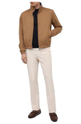 Мужские кожаные мокасины CORNELIANI коричневого цвета, арт. 87TM53-1120983   Фото 2