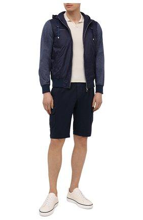 Мужские кожаные кеды TOD'S белого цвета, арт. XXM03E0EA40EK0 | Фото 2