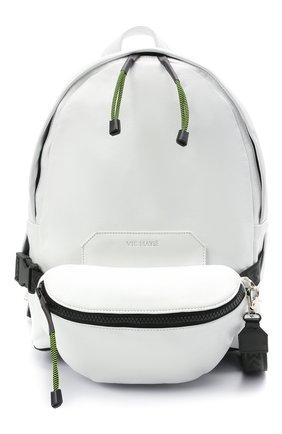 Мужской кожаный рюкзак VIC MATIE белого цвета, арт. 1X0820TZ999C4IB014   Фото 1