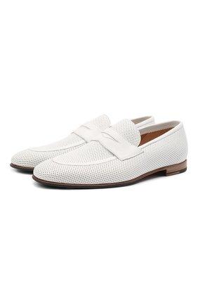 Мужские кожаные пенни-лоферы BARRETT белого цвета, арт. 131U016.10/CERV0 ACC.F0.45312 | Фото 1