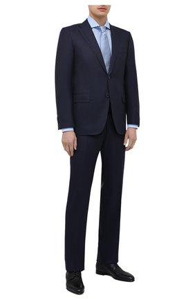Мужские кожаные дерби BARRETT темно-синего цвета, арт. 111U016.89/CERV0 ASP0RTABILE | Фото 2