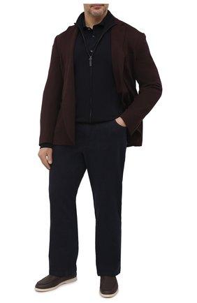 Мужская хлопковая рубашка VAN LAACK темно-синего цвета, арт. M-PER-LSF/180031/3XL | Фото 2 (Материал внешний: Хлопок; Рукава: Длинные; Длина (для топов): Стандартные; Случай: Повседневный; Воротник: Акула; Манжеты: На пуговицах; Принт: Однотонные; Стили: Кэжуэл)