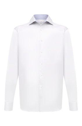 Мужская хлопковая сорочка VAN LAACK белого цвета, арт. RIVARA-TF05N/132241 | Фото 1 (Материал внешний: Хлопок; Длина (для топов): Стандартные; Рукава: Длинные; Случай: Формальный; Рубашки М: Regular Fit; Воротник: Акула; Манжеты: На пуговицах; Принт: Однотонные; Стили: Классический)