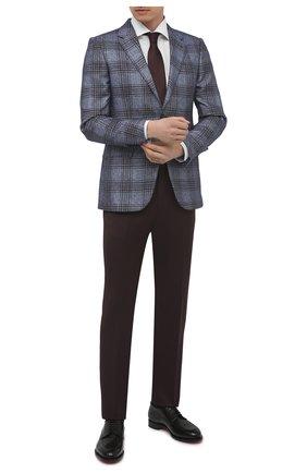 Мужская хлопковая сорочка VAN LAACK белого цвета, арт. RIVARA-TF05N/132241 | Фото 2 (Материал внешний: Хлопок; Длина (для топов): Стандартные; Рукава: Длинные; Случай: Формальный; Рубашки М: Regular Fit; Воротник: Акула; Манжеты: На пуговицах; Принт: Однотонные; Стили: Классический)