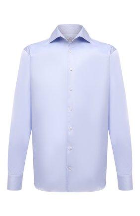 Мужская хлопковая сорочка VAN LAACK голубого цвета, арт. RIVARA-TF05N/132241 | Фото 1 (Материал внешний: Хлопок; Рукава: Длинные; Длина (для топов): Стандартные; Случай: Формальный; Рубашки М: Regular Fit; Воротник: Акула; Манжеты: На пуговицах; Принт: Однотонные; Стили: Классический)