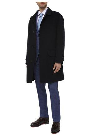 Мужские кожаные дерби SANTONI темно-коричневого цвета, арт. MCC017553MC3HVVDT50   Фото 2